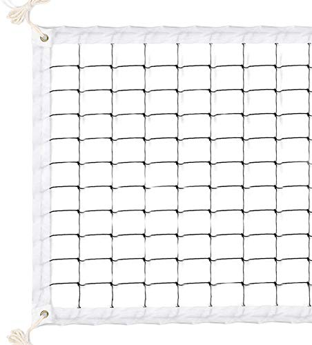 TOCOCO Volleyball Net 32 FT x 3 FT Beach Volleyball Net Portable Official Standard Size Indoor Outdoor Sports Training Equipment with No Poles