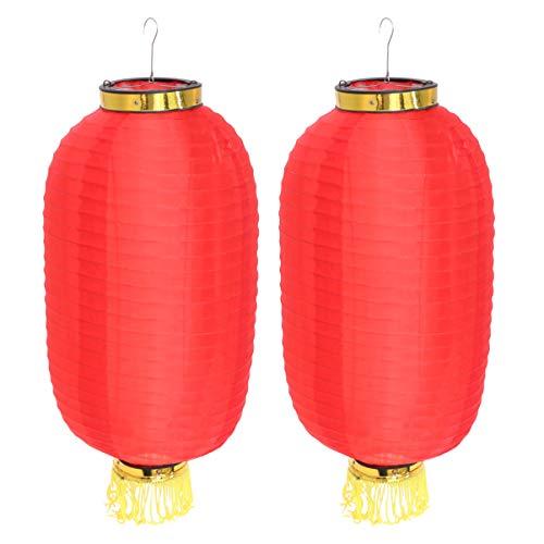 FENICAL Linterna china japonesa decoraciones linterna de seda plegable impermeable de color sólido para el festival de fiesta 2 unids