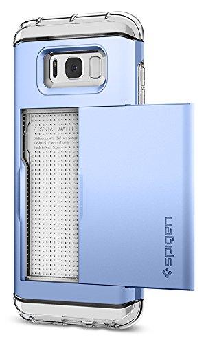 Spigen Crystal Wallet - Funda para Galaxy S8 Plus (2017), diseño de Doble Capa y Tarjetero