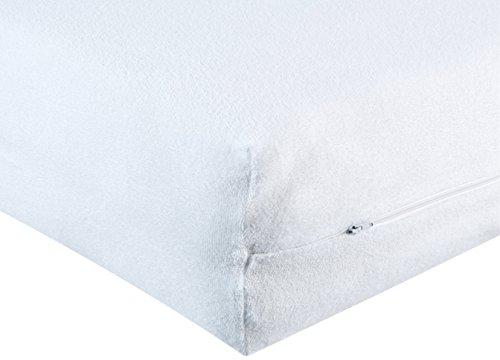 BNP, Bezug für Schaumstoffmatratze, seitliche Öffnung, weiß, 90_x_200_cm