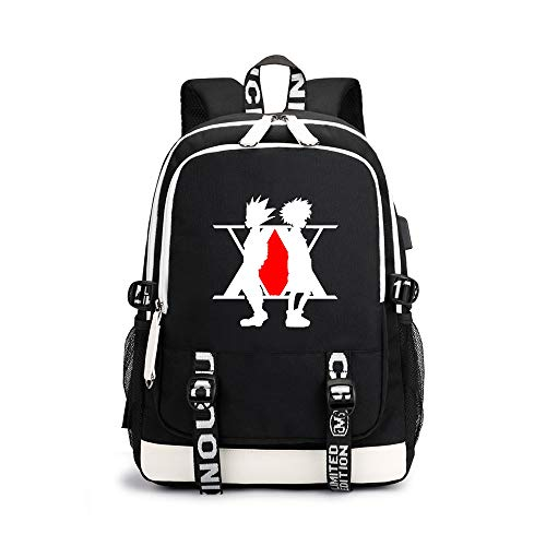 Hunter×Hunter Waterproof Backpack Simple Design Daypack Leisure Airy Schoolbag for Boys and Girls Unisex (Color : A05, Size : 30 X 15 X 43cm)