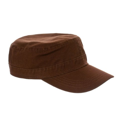 Riverberry Womens Fidel 100% Cotton Chino Cadet Hat, Brown, Size One Size