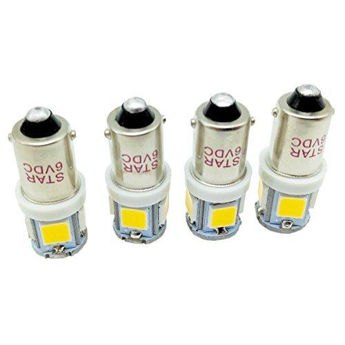 Ultra claire 6 V chaud Ampoule LED BA9S 1445 1895 6253 64111 64113 Canbus sans erreur voiture Page lumière lampe pour carte Dom lumière éclairage d'intérieur Lumière Lumière de fret, Lot de 4