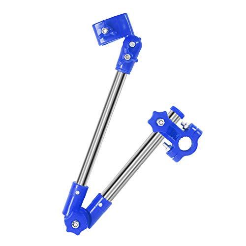 VAST Soporte de montaje ajustable para cochecito de bebé, accesorios para cochecito de bebé, soporte para paraguas para silla de ruedas, estante para bicicleta (color: azul)