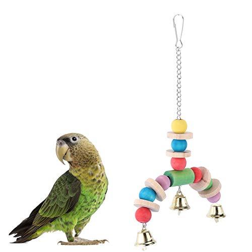Jarchii, altalena in legno colorato, giocattolo per uccello e pappagalli