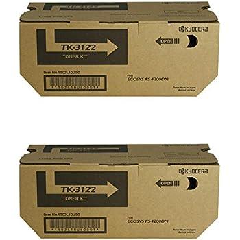 TK3122 Black,2 Pack USA Advantage Compatible Toner Cartridge Replacement for Kyocera Mita TK-3122