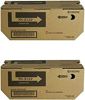 Kyocera TK-3122 (TK3122) Black Toner Cartridge 2-Pack for ECOSYS M3550idn, M3560idn, FS-4200DN