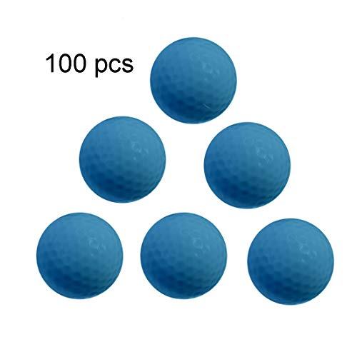 Learn More About GQMNL Golf Balls 100 Pcs Synthetic Rubber Golf Three-Layer Game Ball Wear-Resistant...