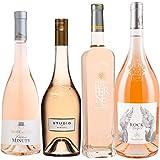 Best of Provence - Lot de 4 bouteilles - Minuty Rose et Or - Studio de Miraval - Terre de Berne - Esclans Rock Angel - Côtes de Provence Rosé 2019 (4 * 75cl)