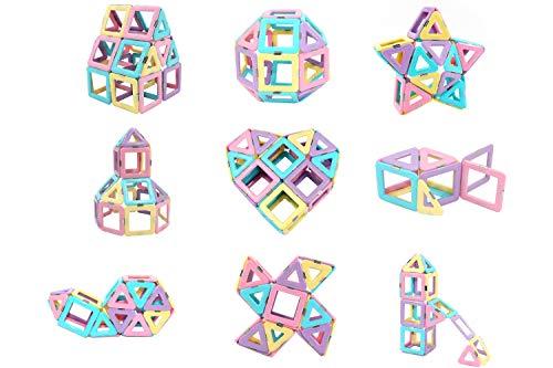 FUTURE MIRCALE Magnetic Tiles Building Blocks Toys, 40 Pcs Preschool Kids Educational Construction Toys Sets