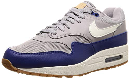 Nike Herren Air Max 1 Fitnessschuhe, Mehrfarbig (Atmosphere Grey/Sail/Deep Royal Blue 008), 41 EU
