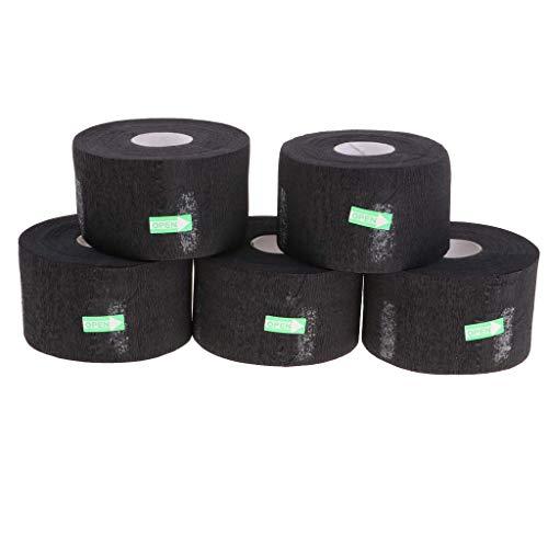 Ogquaton 5 Paquetes Desechables de Papel de Belleza peluquería salón Tiras de Cuello Rollos de Cuello Papeles de Cuello Negro