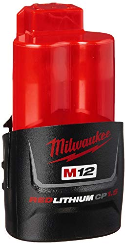 MILWAUKEE'S 48-11-2401 Genuine OEM M12 REDLITHIUM 12 Volt 1.5 Amp Compact Lithium Ion Battery with Overload Protection for Cordless Power Tools