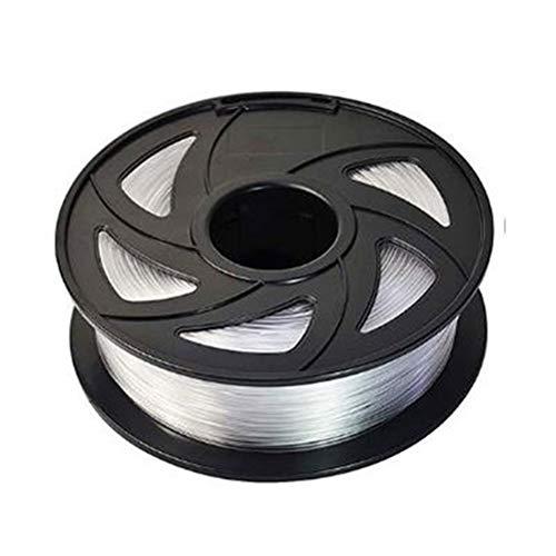 Auartmetion 1pc 3D Printer Filament PETG 1.75mm 1 kg / 2,2 LB Plastique PETG Filament Consommables PETG Matériel for imprimante 3D Filament (Couleur : Transparent)
