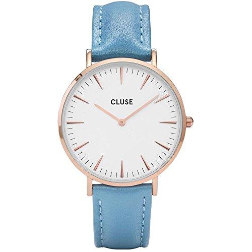 CLUSE Reloj Analógico para Mujer de Cuarzo con Correa en Cuero CL18033