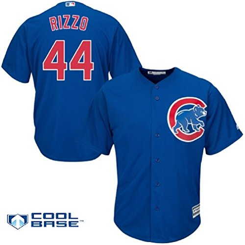 VF Anthony Rizzo Chicago Cubs #44 Men's Cool Base Alternate Jersey Blue (XL)