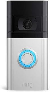 Helt ny Ring Video Doorbell 4 av Amazon – HD Video med tvåvägssamtal, förhandsvisning av Pre-Roll-video i färg, batteridri...