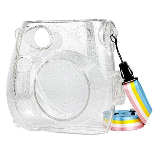 Kamera-Taschen Hülle für Fujifilm Instax Mini7s/7c Camera Sofortbildkamera, PVC Transparent Compact Schutztasche Kompaktkamera-Taschen mit Schultergurt & Tasche