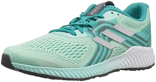 adidas Women's Aerobounce 2 Running Shoe, hi-res Aqua/Silver Metallic/Clear Mint, 8 M US