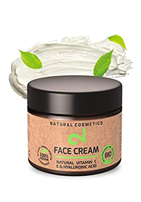 DUAL Vitamin C & Hyaluronic Acid Face Cream - Day & Night Face Cream| Microalgae & Broccoli | 100% Natural & Anti-Ageing Cream | Skin Hydration | Organic |Vegan & Certified|50 ml |Made in Germany by Dual Gmbh