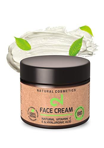 DUAL Face Cream |Crème Hydratante Visage Jour Nuit 100% Naturelle |Vitamine C, Source d'Acide Hyaluronique |Microalgues, Brocolis|Tous Types de Peau |Anti-Âge|Végétalien |Fabriquée en Allemagne |BIO