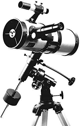 BGDGTP für Kinder Erwachsene, 114 mm Apertur 1000 mm astronomisches Reflektorteleskop mit Stativ BAK4 Prisma FMC Objektiv Äquatorial Mount Monokular zur Beobachtung des Saturn Jupiter Mondplaneten
