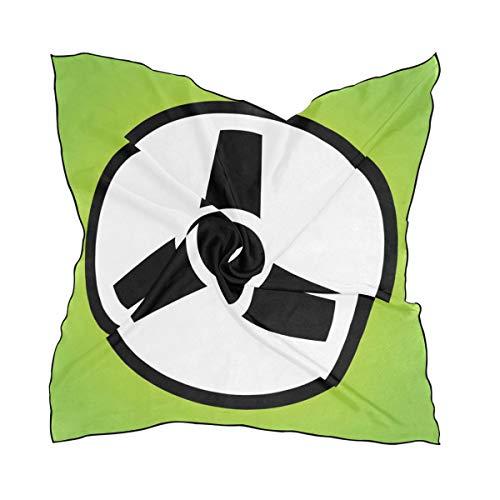 FANTAZIO Fantasio Lenkrad-Icon, leicht, modischer Schal und Kopftuch, für Mädchen, quadratische Form