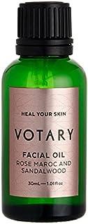 Votary Rose Maroc and Sandalwood Facial Oil 30ml (Pack of 6) - はのサンダルウッドフェイシャルオイル30ミリリットルをバラ x6 [並行輸入品]