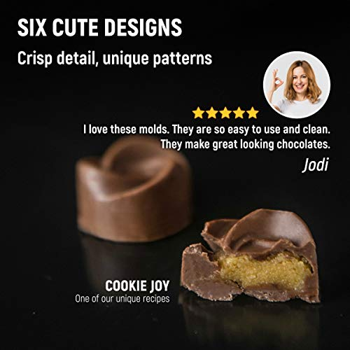 Silicone Chocolate Moulds + 5 Recipe eBook - 6 Pack – Non-Stick Chocolate Mould – BPA Free Silicone Mould