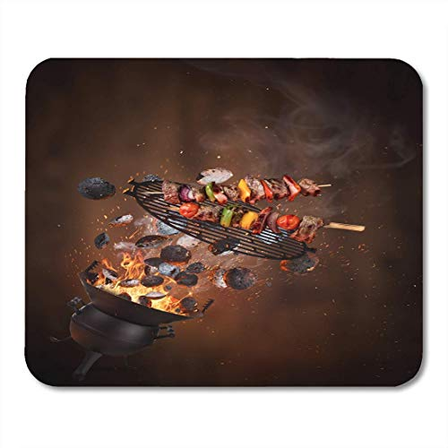 Muismat waterkoker voor grillbriketten warm gietijzer grill en smakelijke notebook pad computer desktop muismatten
