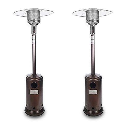 EWheelchair888 Propane Patio Heater Outdoor Patio Heater Heater Gas Propane Heater Outdoor Table Top Heater W/Adjustable Thermostat,Suitable for Yard,Commercial Restaurant,Gazebo (Color : 2PCS)