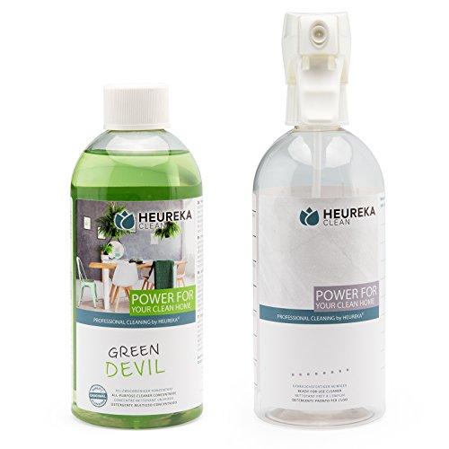 Preisvergleich Produktbild HEUREKA Allzweckreiniger Konzentrat - Green Devil,  500 ml für 450 l Reiniger + Leerflasche