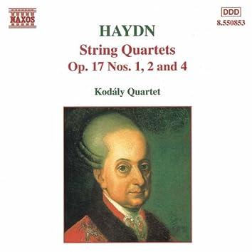 HAYDN: String Quartets Op. 17, Nos. 1, 2 and 4