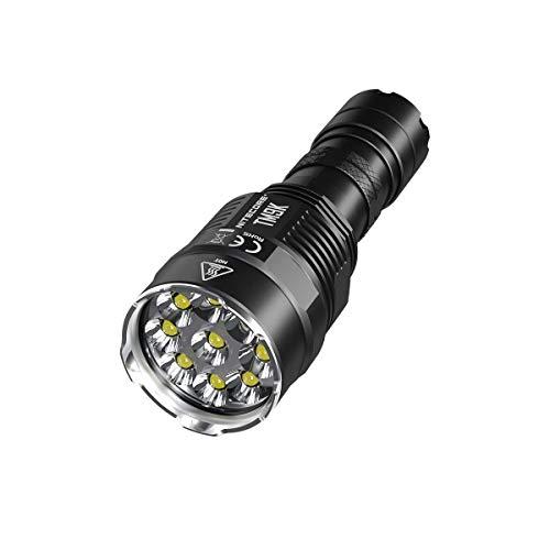 Nitecore TM9K Typ-C LED-Taschenlampe, wiederaufladbar, 9 x CREE XP-L HD V6-9500 Lumen, inklusive Akku