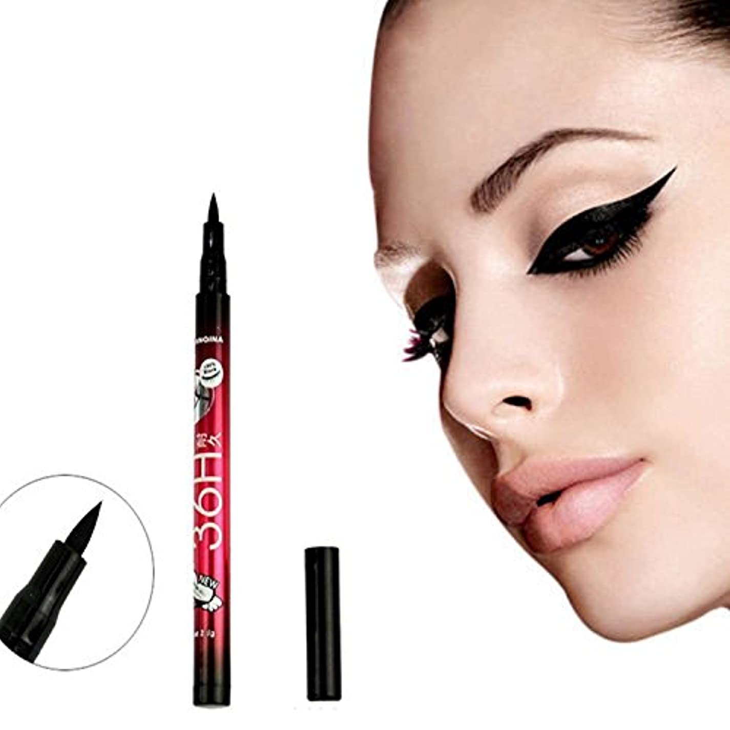ディスコ強盗ポジションFGULプロスムース防水メイクアップ美容黒新しいアイライナーアイライナー鉛筆