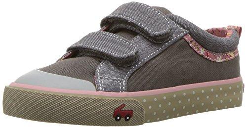 See Kai Run Baby Girls Robyne Sneaker, Gray Canvas, 13 Infant