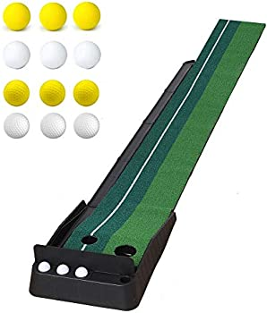 Oftoto 10-Foot Putting Mat with Automatic Fairway Return