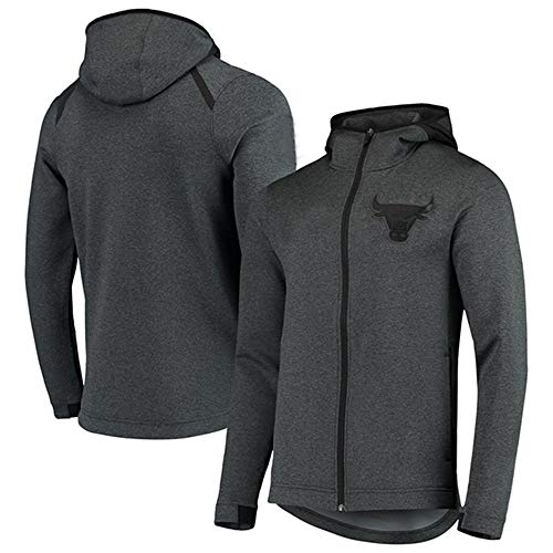 Heren Hoodie NBA Fans Jersey Chicago Bulls Sweatshirt met trekkoord Rits Lange mouwen Casual Comfortabele Warm Pullover S-XXXL