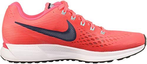 Nike Wmns Air Zoom Pegasus 34, Zapatillas de Running para Mujer, Rosa (Hot Punch/Thunder Blue/Siren Red/lt Aqua/White/Black), 38 EU