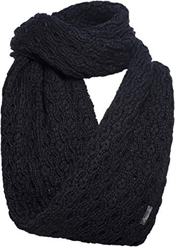 Eisglut Damen Elisabella Loop Merino Schal, schwarz, 70x26