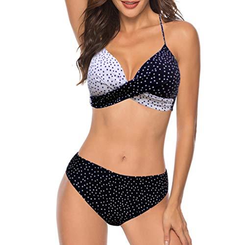 YaoDgFa Bikini sexy da donna, set push up, costume da bagno, bikini, bikini da donna, a fascia # 02 XXL