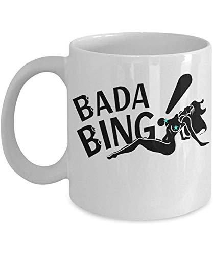 Bada Bing-By: Trinkets Neuheit-TV-Show inspiriert Sopranos Merchandise 11-Unzen Kult klassische Tony James Gandolfini Mafia New Jersey Paulie Kaffee-Tee-Haferl Cup-Perfect Geschenk für Sopranos Fans