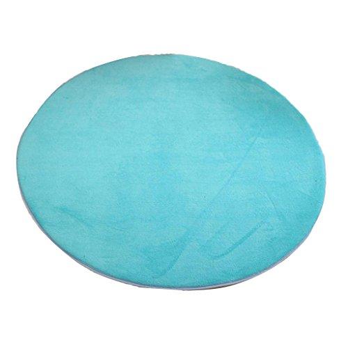 D DOLITY Weiche Plüsch Baby Zelt Kriechteppich, Krabbeldecke, Schlafteppich, Spielmatte für Kinder Spielzelt Dekoration - Blau, Rund