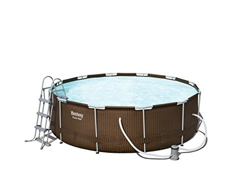 Piscina Desmontable Tubular Bestway Power Steel Diseño Rattan 366x100 cm...