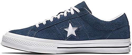 Converse Lifestyle One Star Ox, Scarpe da Ginnastica Basse Unisex-Bambini, Blu (Navy/White/White 410), 37.5 EU