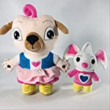 NC56 Cartoon Movies Chip and Potato Stuffed Plush Toys Dog and Mouse Plush Doll Gift for Children 17-30cm 2pcs Dog and Mouse