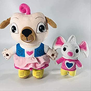 Alertkid Cartoon Movies Chip and Potato Stuffed Plush Toys Dog and Mouse Plush Doll Gift for Children 17-30CM 2pcs Dog and Mouse