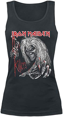 Iron Maiden Ed Kills Again Mujer Top Negro L, 100% algodón, Regular