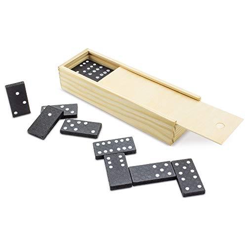 DISOK - Domino De Madera - Dominos para Bodas. Juegos de Dominos para Detalles, Regalos y Recuerdos de Bodas Originales y Baratos de Madera