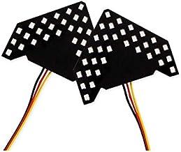 【FIELD】汎用 ドアミラー用 矢印型 ウインカーランプ 片側33連SMD アンバー ウインカー シーケンシャルウインカー機能 通常点滅 流れる点滅 流星 LED 電装 パーツ